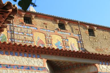 Church wall in lloret de mar