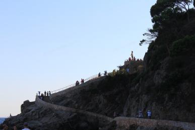 Trapper og skulptur i Lloret de Mar