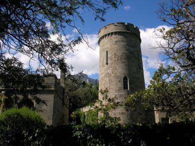 Castle tower in Vorontsov park