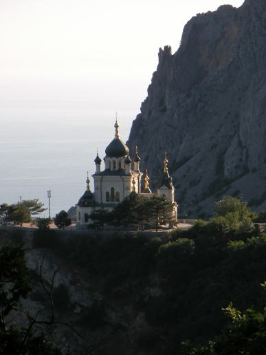 Church in the mountains near Foros in Crimea