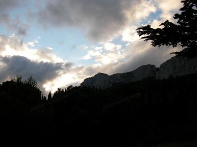 Crimean mountains in the evening