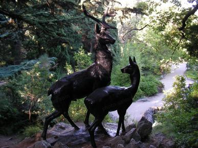 Deer couple statue