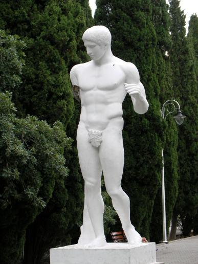 cilvēka statuja