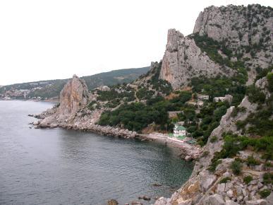 Suky nad morom v Simeiz na Kryme