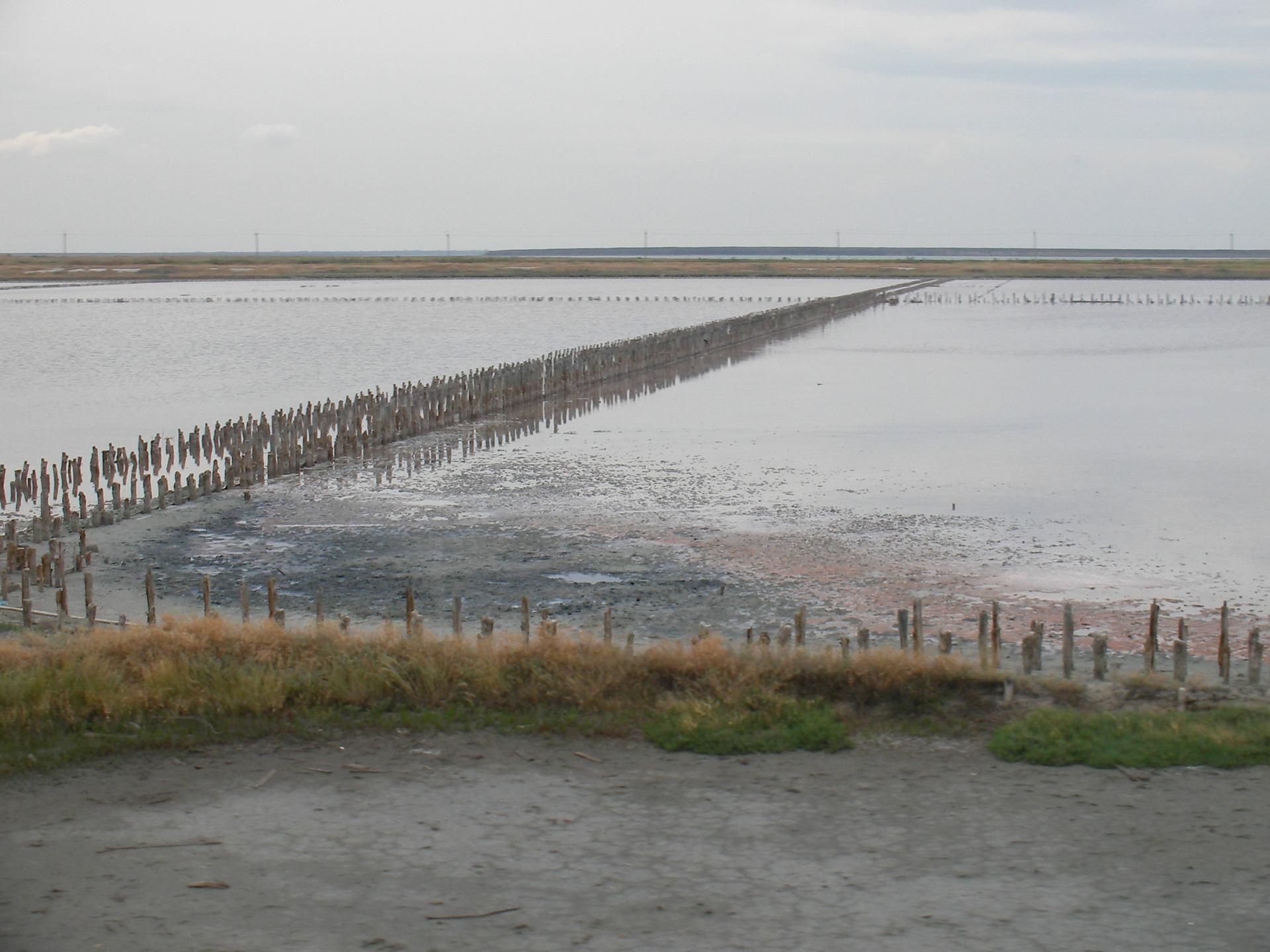 クリミア半島の近くに治療泥湖Sivash