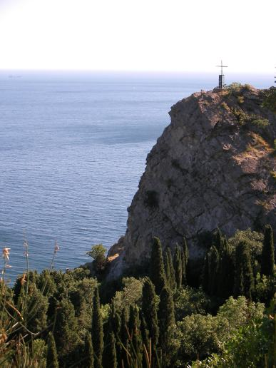 Mountain Iphigenia above Black Sea in Crimea