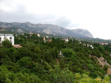 หมู่บ้านบนภูเขาในแหลมไครเมีย