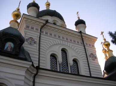Stačiatikių bažnyčia Kryme netoli Forumai